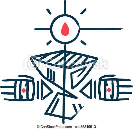 símbolo religioso eucaristia cristão cristão símbolo eucaristia