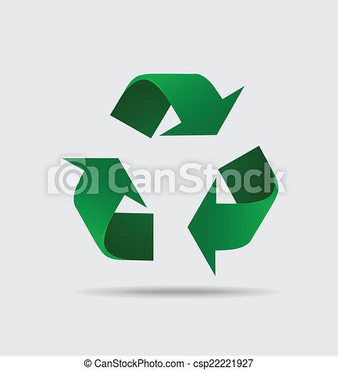 símbolo, símbolo., embalagem, vetorial, recicle, illustrat - csp22221927