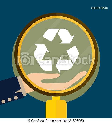 El símbolo de reciclaje. El símbolo vector Illustrat - csp21595063