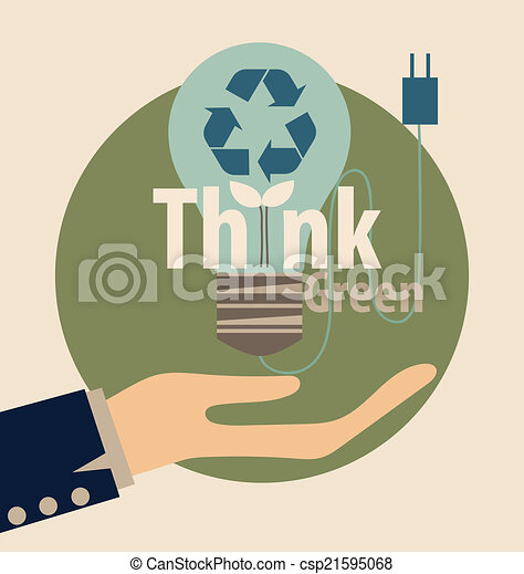 El símbolo de reciclaje. El símbolo vector Illustrat - csp21595068