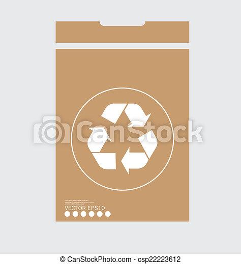 El símbolo de reciclaje. El símbolo vector Illustrat - csp22223612