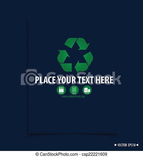 El símbolo de reciclaje. El símbolo vector Illustrat - csp22221609