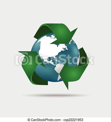 El símbolo de reciclaje. El símbolo vector Illustrat - csp22221953