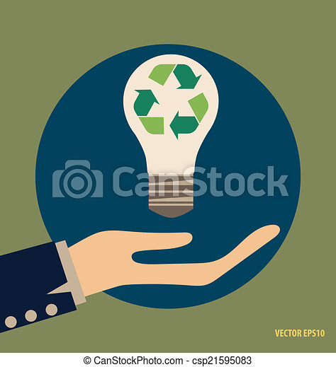 El símbolo de reciclaje. El símbolo vector Illustrat - csp21595083