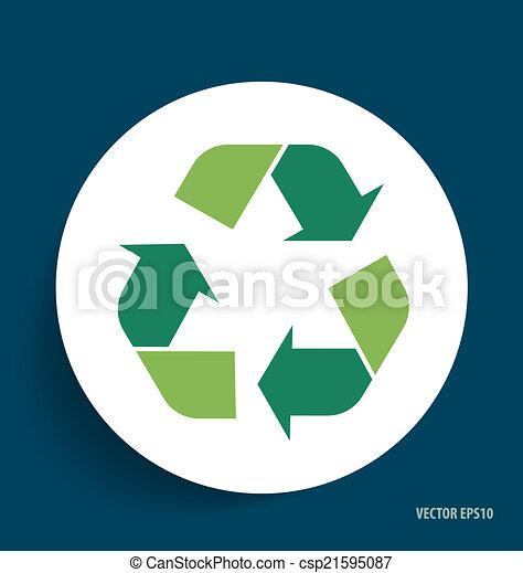 El símbolo de reciclaje. El símbolo vector Illustrat - csp21595087