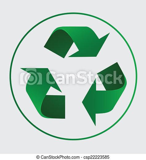 El símbolo de reciclaje. El símbolo vector Illustrat - csp22223585