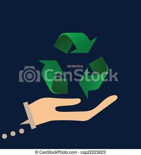 El símbolo de reciclaje. El símbolo vector Illustrat - csp22223623