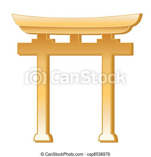 Simbolo Shinto - csp8536976