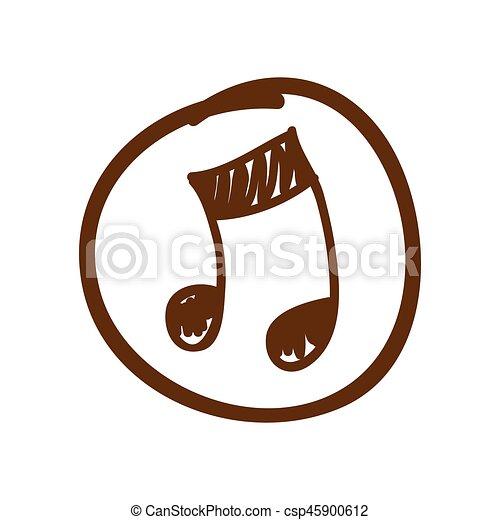 Simbolo Sinal Musica Icone Simbolo Ilustracao Sinal