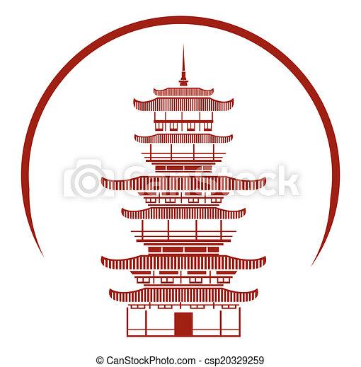 El símbolo del templo chino - csp20329259