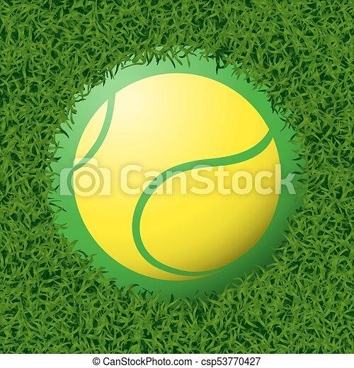El símbolo del tenis - csp53770427