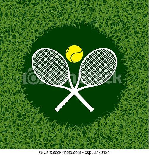 El símbolo de la hierba del tenis - csp53770424