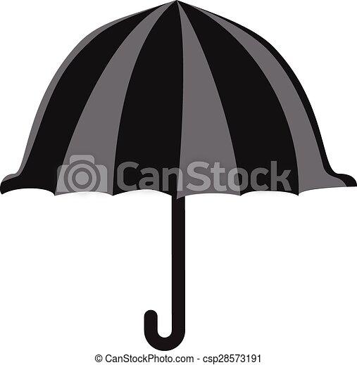 El símbolo de icono de paraguas ilustración vectorial - csp28573191