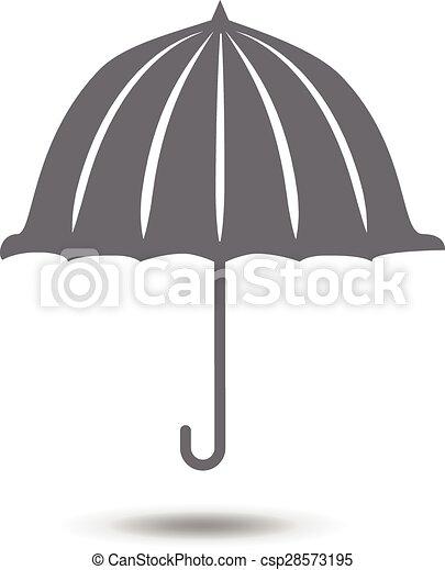 El símbolo de icono de paraguas ilustración vectorial - csp28573195