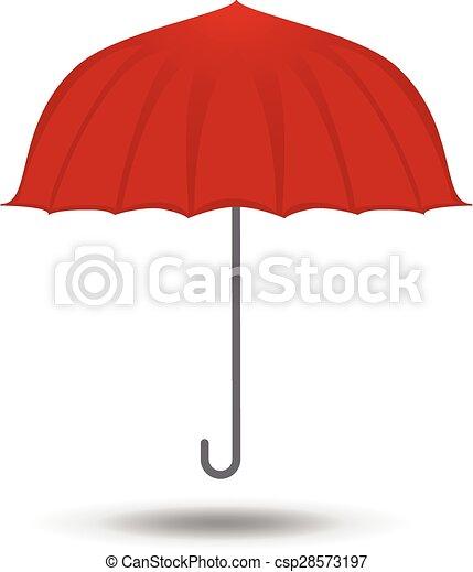 El símbolo de icono de paraguas ilustración vectorial - csp28573197