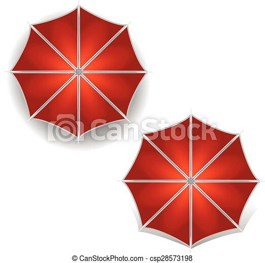 El símbolo de icono de paraguas ilustración vectorial - csp28573198