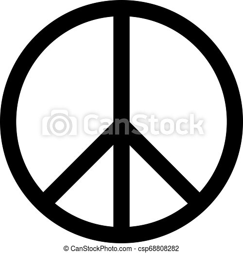 icono de ilustración vectorial de paz - csp68808282