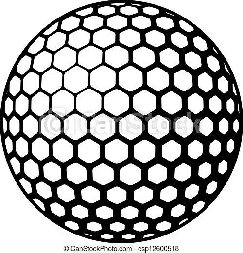 símbolo, vetorial, bola golfe - csp12600518