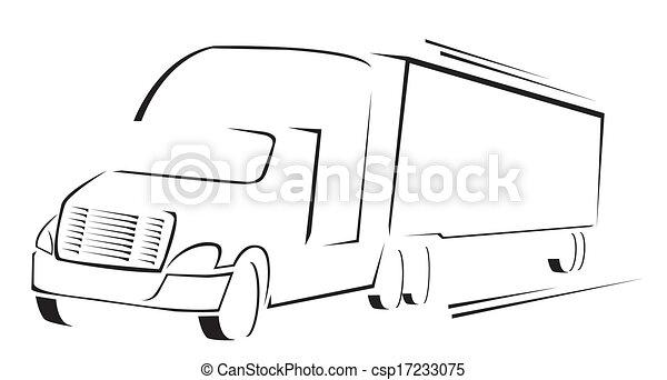 símbolo, vetorial, caminhão, ilustração - csp17233075