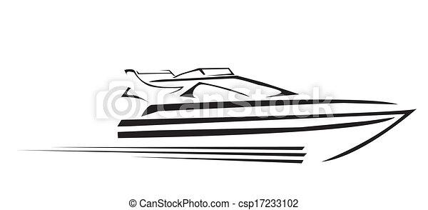 símbolo, vetorial, iate, ilustração - csp17233102