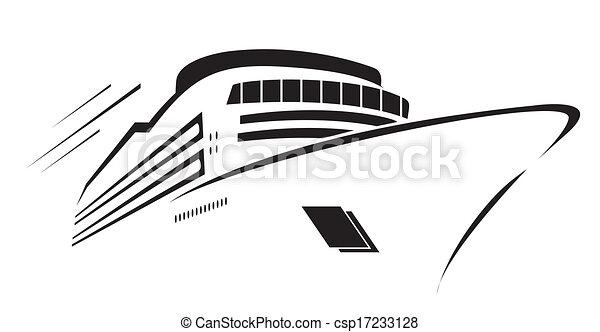 símbolo, vetorial, iate, ilustração - csp17233128