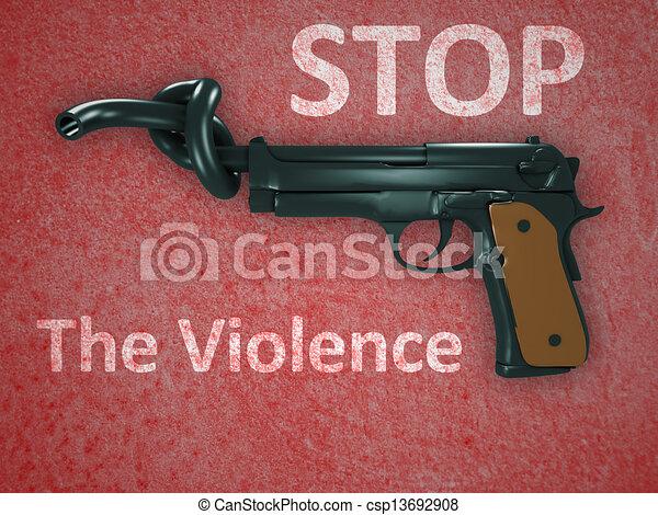 No hay símbolo de violencia - csp13692908