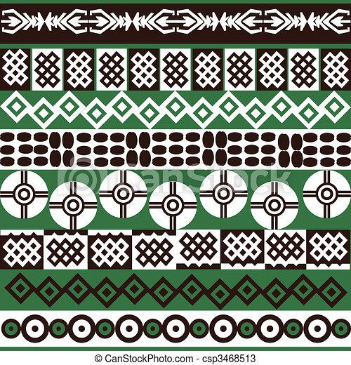 Los símbolos étnicos del fondo - csp3468513