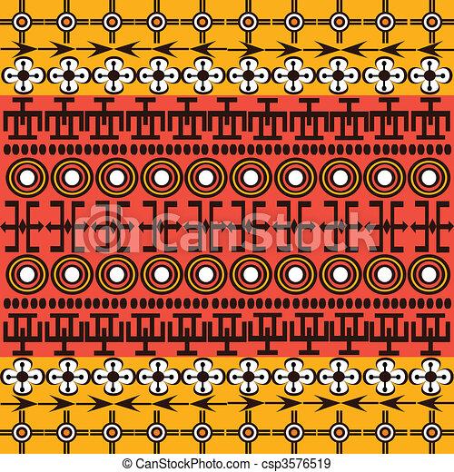 Los símbolos étnicos africanos de fondo - csp3576519