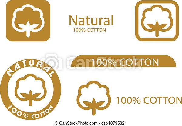 símbolos, algodão - csp10735321