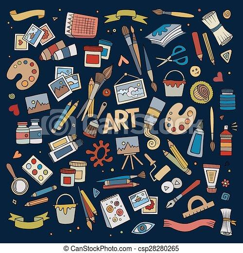 Símbolos de vectores de arte y arte y objetos - csp28280265