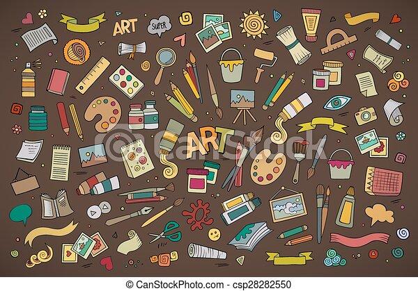 Símbolos de vectores de arte y arte y objetos - csp28282550