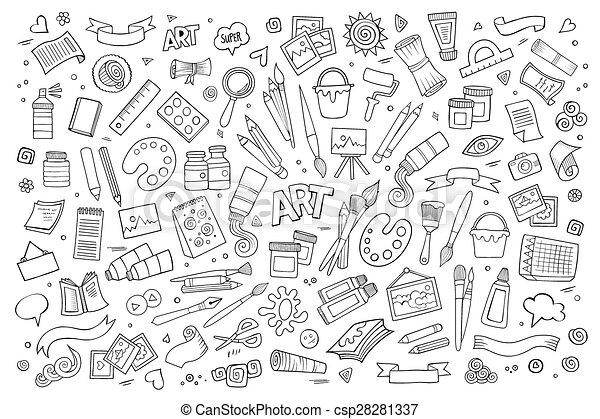Símbolos de vectores de arte y arte y objetos - csp28281337
