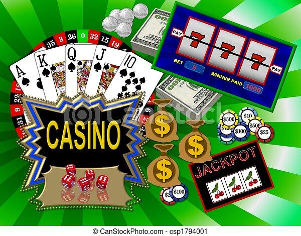 Simbolos de casino - csp1794001