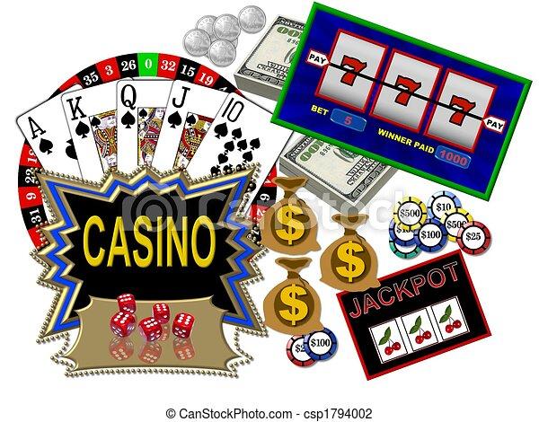 Simbolos de casino - csp1794002