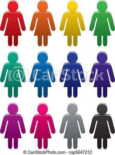 Coloridos símbolos femeninos - csp5647212