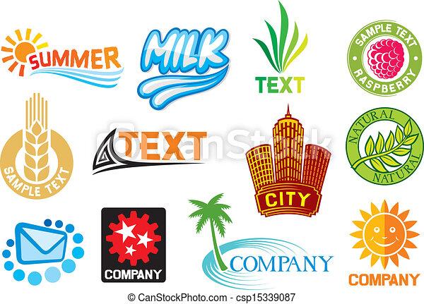 Un conjunto de símbolos corporativos - csp15339087