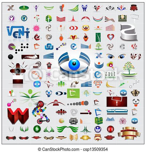 símbolos, conjunto, iconos - csp13509354