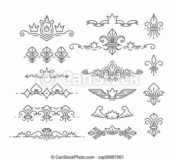 Fila, símbolos reales vacíos - csp30687061
