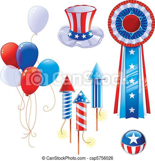 Simbolos del día de la independencia - csp5756026