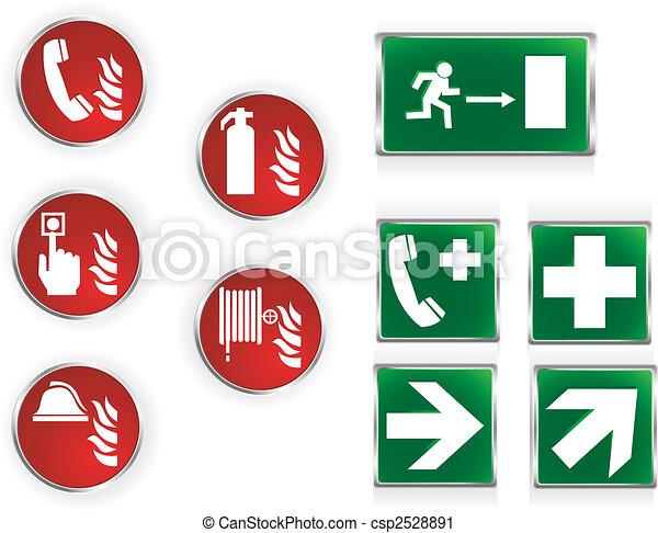 Simbolos de emergencia - csp2528891