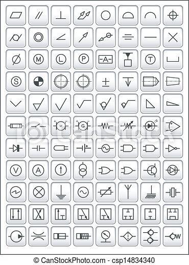 símbolos, engenharia - csp14834340