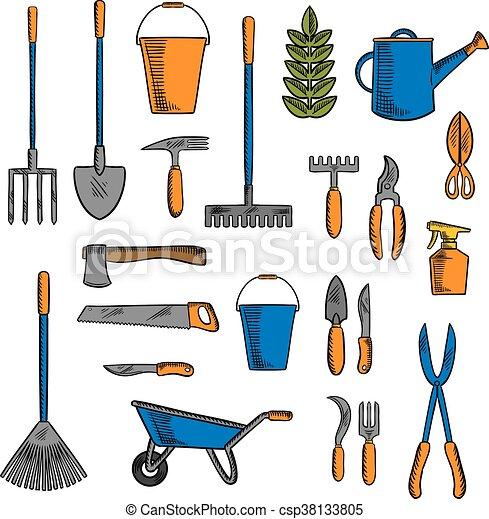 S mbolos equipments vario herramientas de jardiner a - Herramienta de jardineria ...
