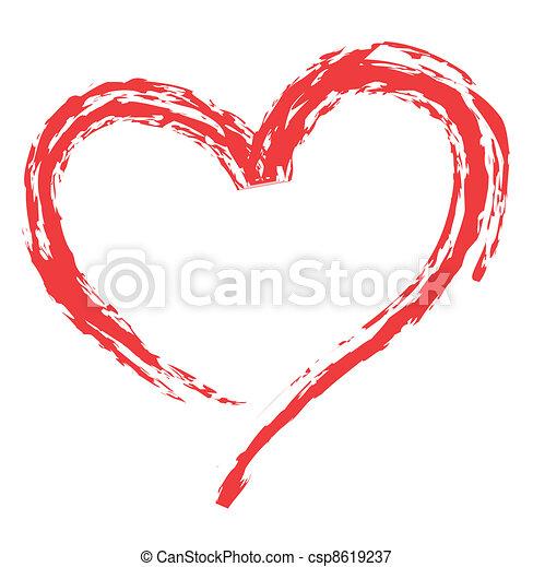 símbolos, forma coração, amor - csp8619237