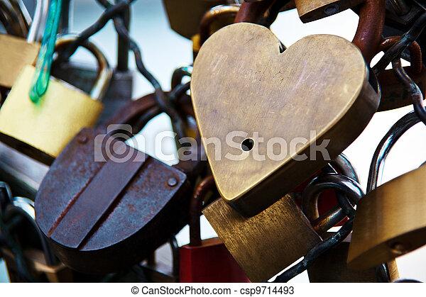 símbolos, france., amor, parís - csp9714493