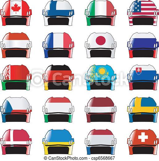símbolos, hóquei, nações - csp6568667