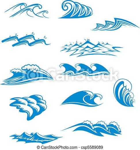 símbolos, jogo, onda - csp5589089