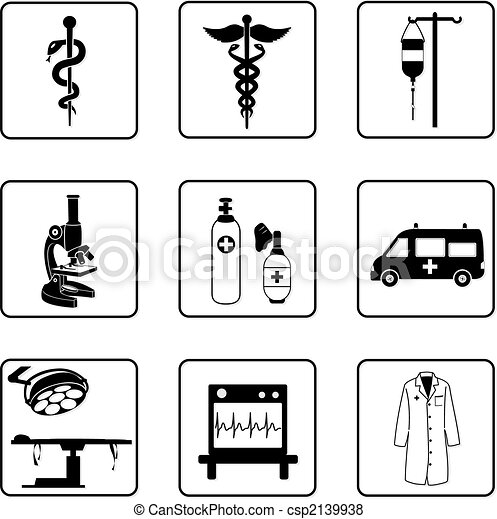 símbolos, médico - csp2139938