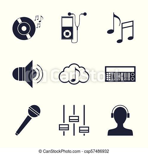 Simbolos Musica Jogo Tecnologia Vetorial Grafico Cobranca