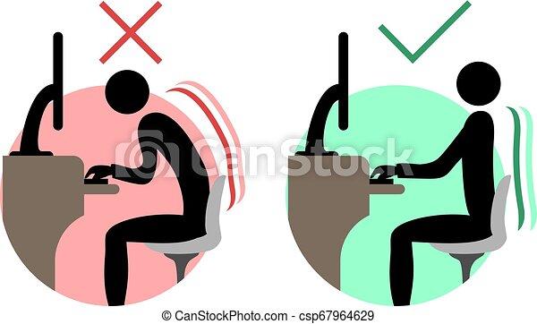 Simbolos de espalda buenos y malos - csp67964629