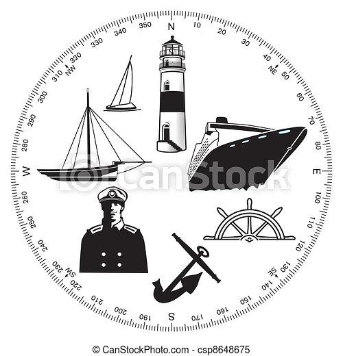 símbolos marítimo